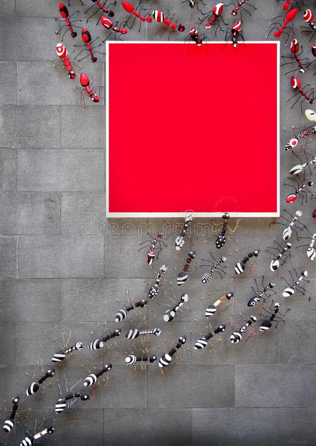 Ants Colony stock image