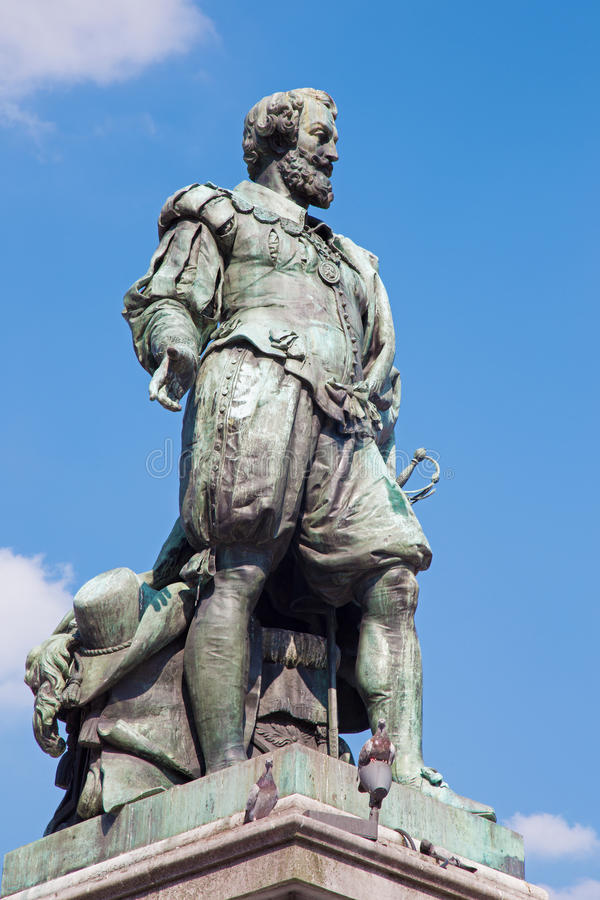 Antuérpia - estátua do pintor P.P. Rubens imagem de stock royalty free