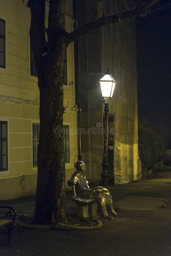 Antun Gustav Matos Statue, Strossmayer-Promenade, obere Stadt, Zagreb, Kroatien stockbild