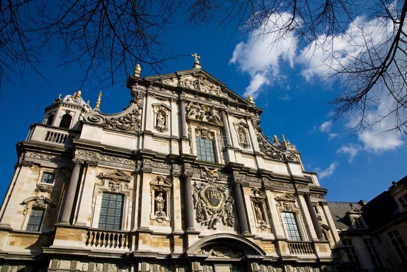 antwerp Belgium carolus kościół obraz royalty free