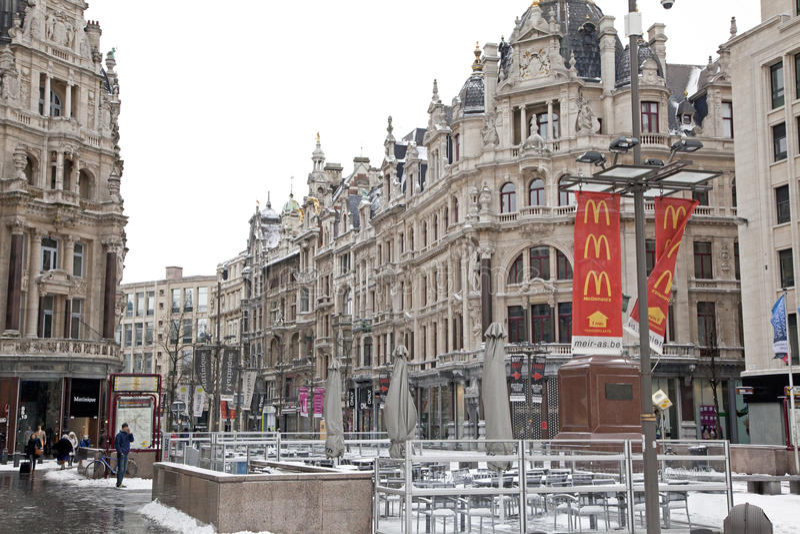 Antwerp architecture stock image