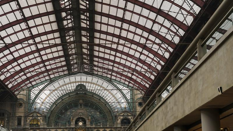 Antwerp central drevstation arkivfoto