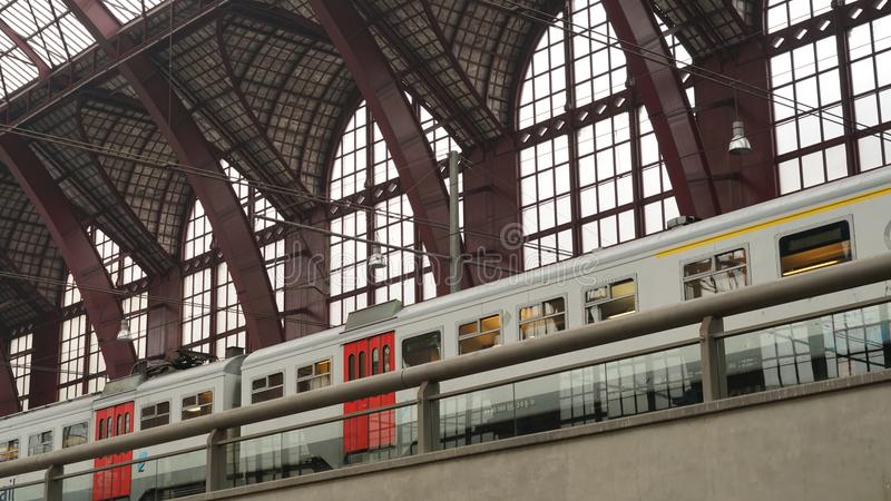 Antwerp central drevstation royaltyfri fotografi