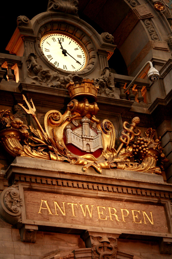 Download Antwerp Central Railstation Stock Image - Image of restored, early: 7287145