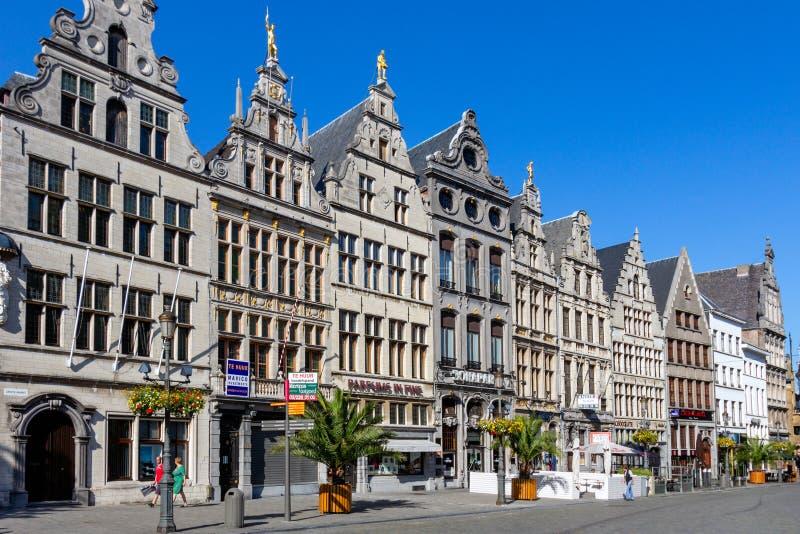 Antwerp Grote Markt fyrkant arkivbild
