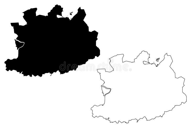 Antwerp Gubernialny królestwo Belgia, prowincje Belgia kartografuje wektorową ilustrację, skrobaniny nakreślenia Antwerp mapa ilustracji