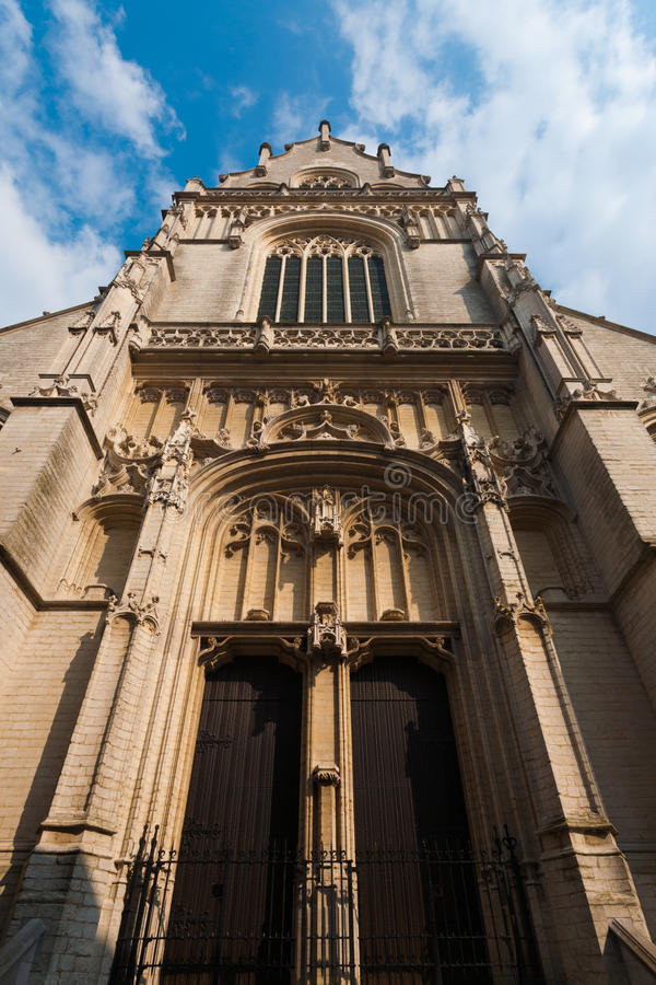 antwerp kościół przodu jacobskerk James święty zdjęcie stock