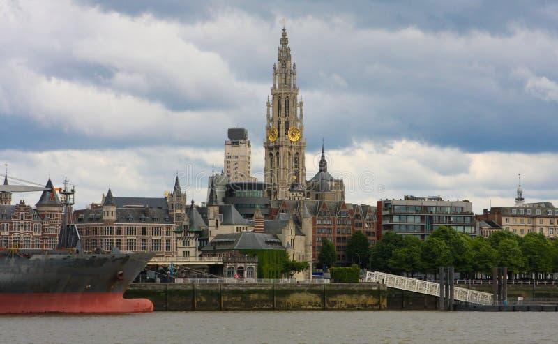 antwerp linia horyzontu Belgium obrazy stock