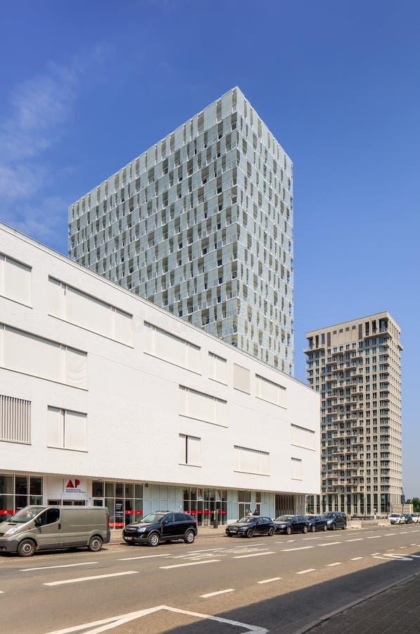 Modern architecture in the city center of Antwerp, Belgium stock photos