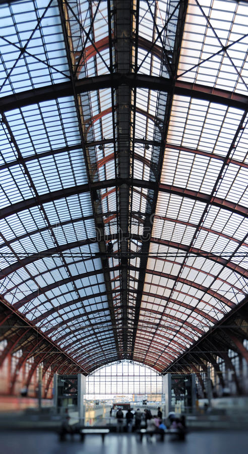 Antwerp Railway Station stock image