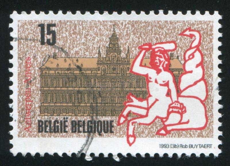 Antwerp urząd miasta, projektujący Cornelis Floris zdjęcie stock