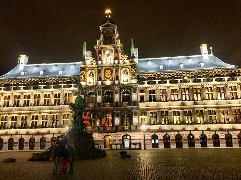 Antwerp urząd miasta obrazy stock