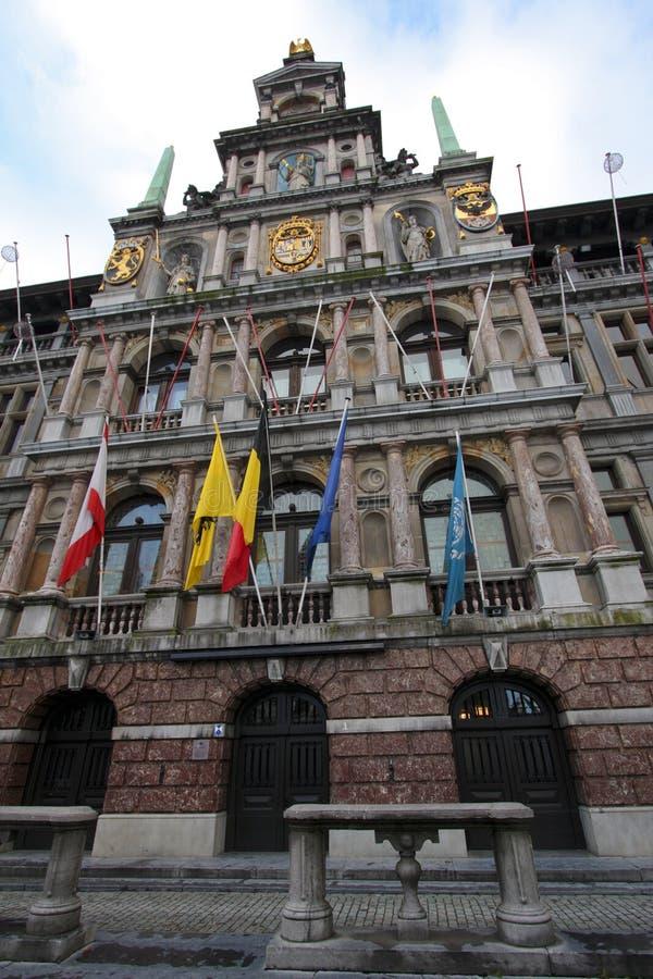 antwerp urząd miasta Belgium zdjęcia stock