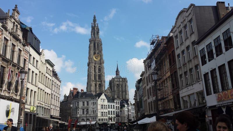 Antwerpen Belgien Kathedrale стоковое фото rf