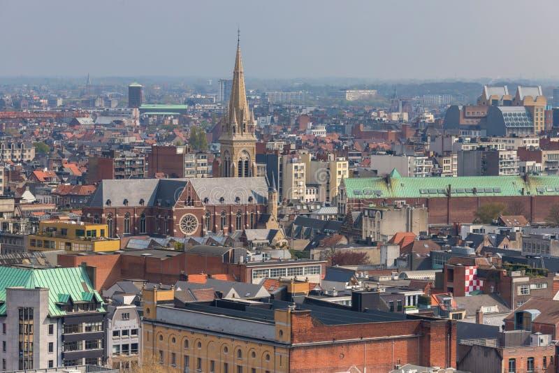 Antwerpen Belgium pejza? miejski z g?ry obrazy royalty free