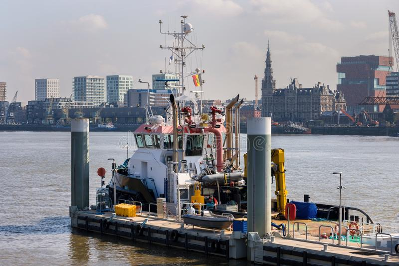 Antwerpen Belgium pogodny pejza? miejski fotografia royalty free