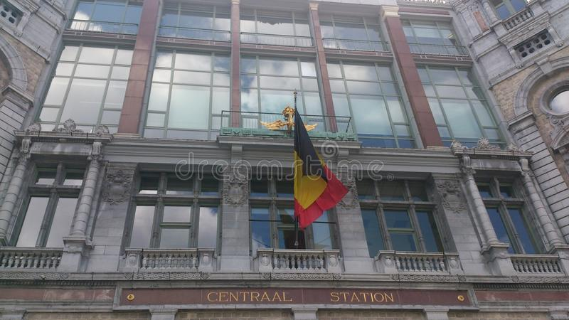 Antwerpen Centraal station fotografering för bildbyråer