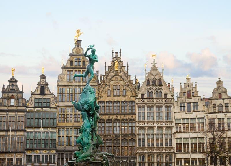 Antwerpen Grote Markt foto de archivo libre de regalías