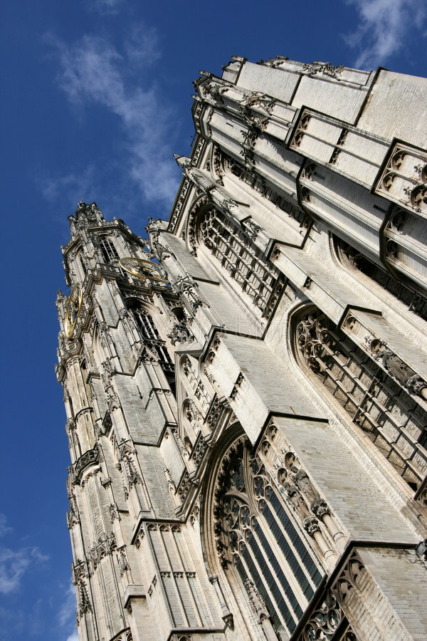 Antwerpen-Kathedrale lizenzfreie stockfotos