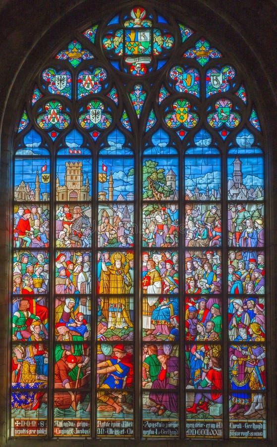 Antwerpen - Ruit van kathedraal van Onze Dame royalty-vrije stock afbeelding