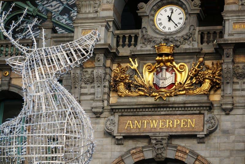 Antwerpen stacja kolejowa obrazy stock