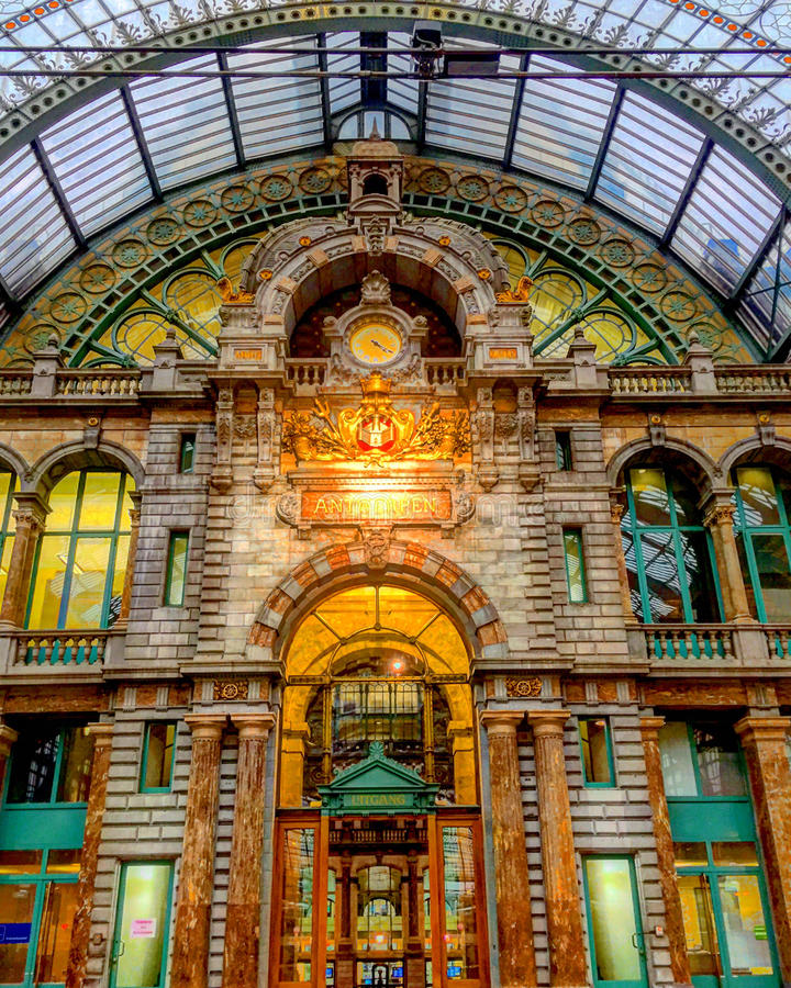 Antwerpen-Zentrale lizenzfreies stockbild