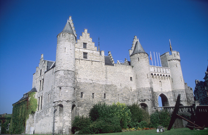antwerpia, castle obrazy royalty free