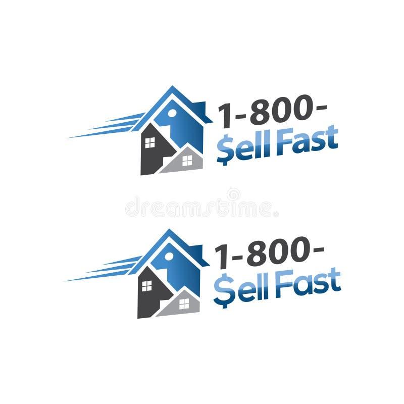 Antwoord snel huis het verkopen vector illustratie