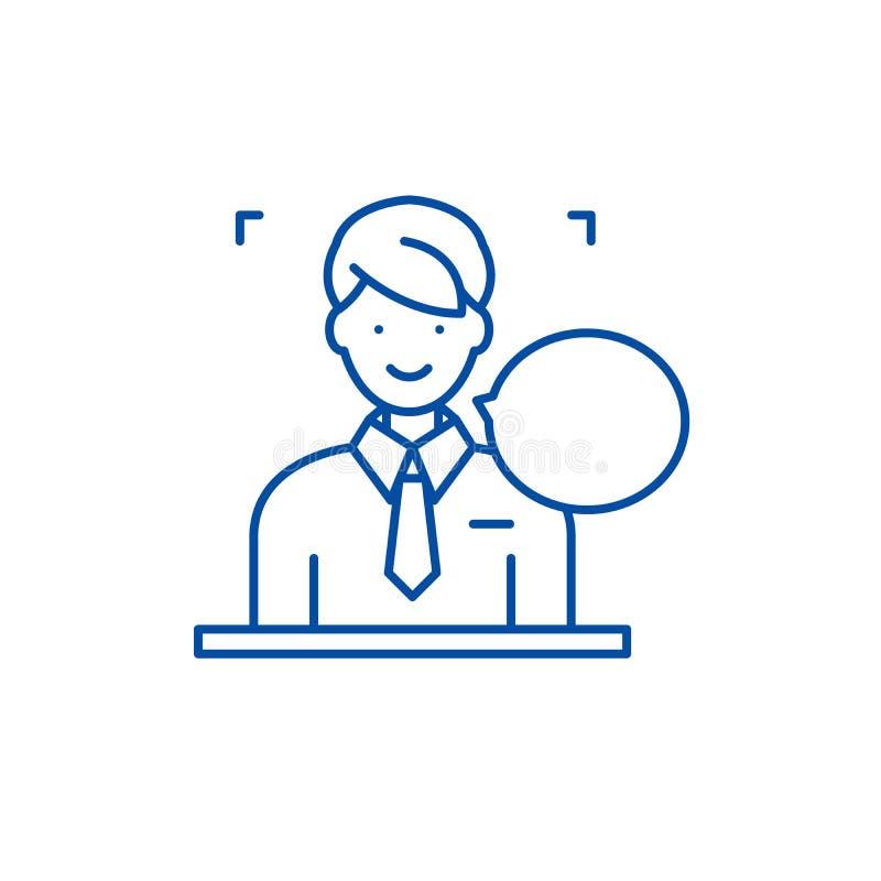 Antworten auf Fragen zeichnen Ikonenkonzept Antworten auf flachem Vektorsymbol der Fragen, Zeichen, Entwurfsillustration lizenzfreie abbildung