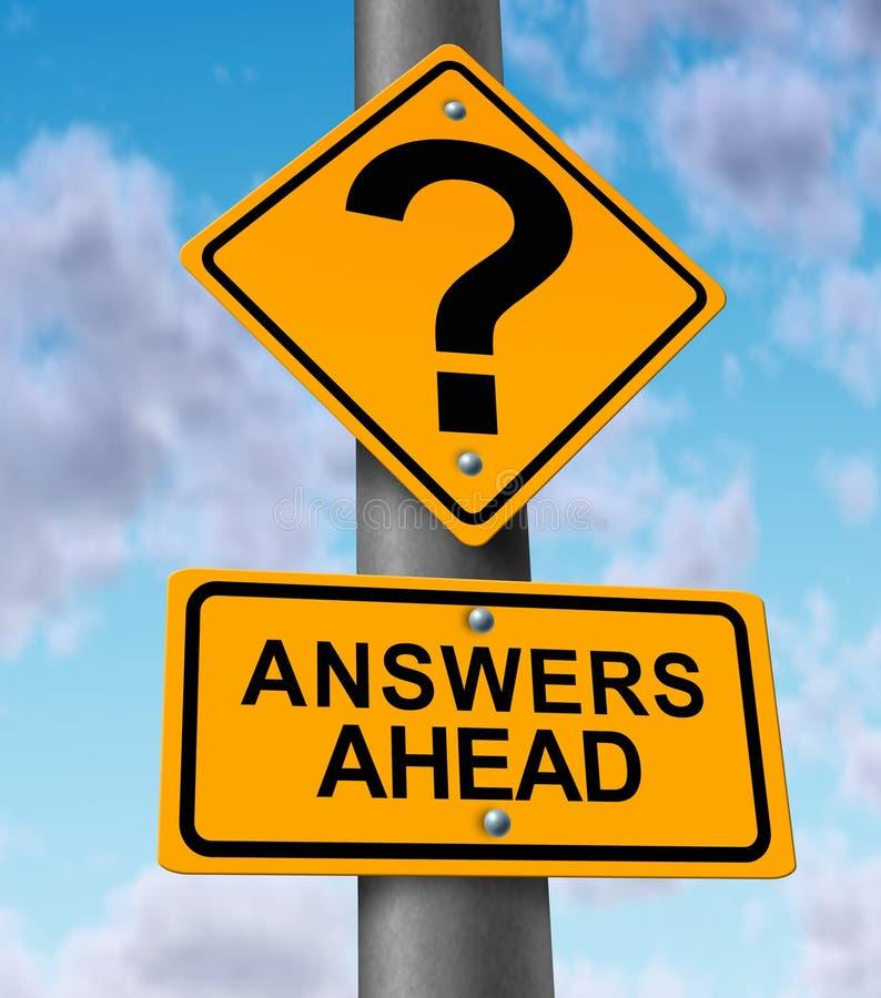 Antworten voran lizenzfreie abbildung