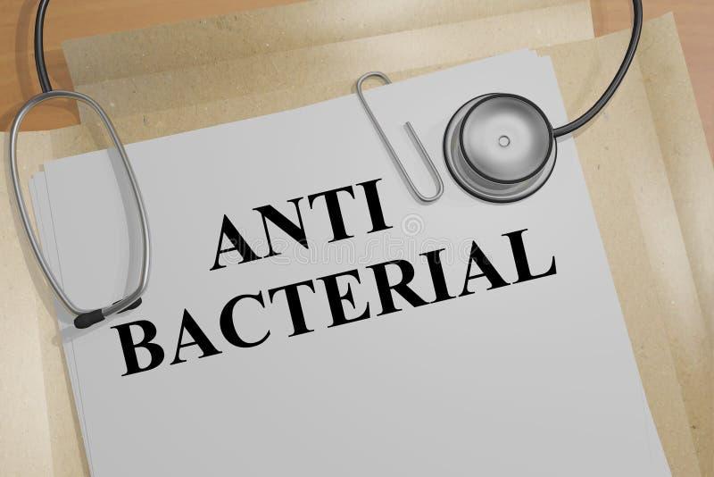 Anty Bakteryjny pojęcie ilustracji