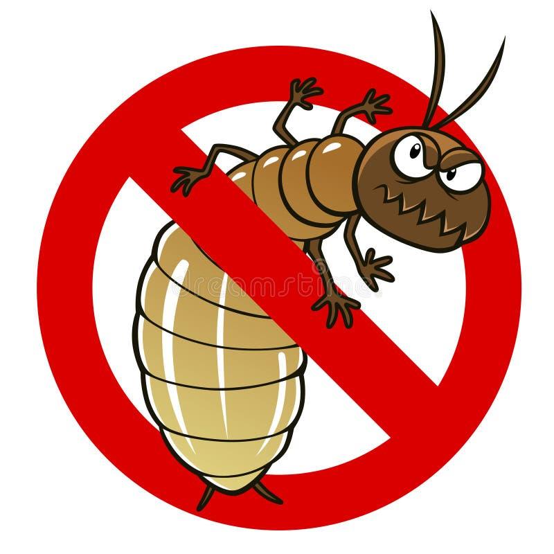 Anty termitu znak ilustracji