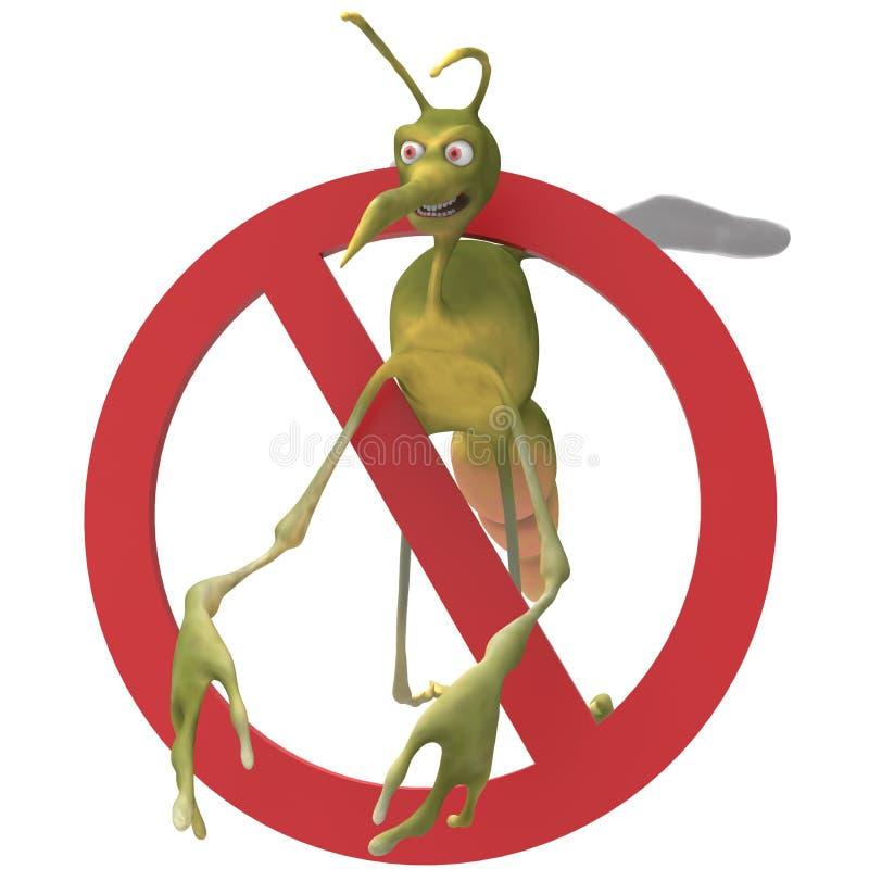 Anty Zły komar fotografia royalty free