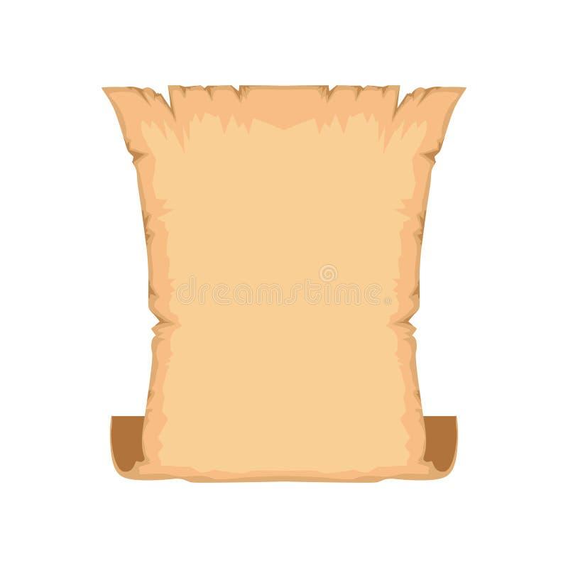 Antyczna ślimacznica lub rocznika pergamin z przestrzenią dla tekst wektorowej ilustraci na białym tle ilustracja wektor