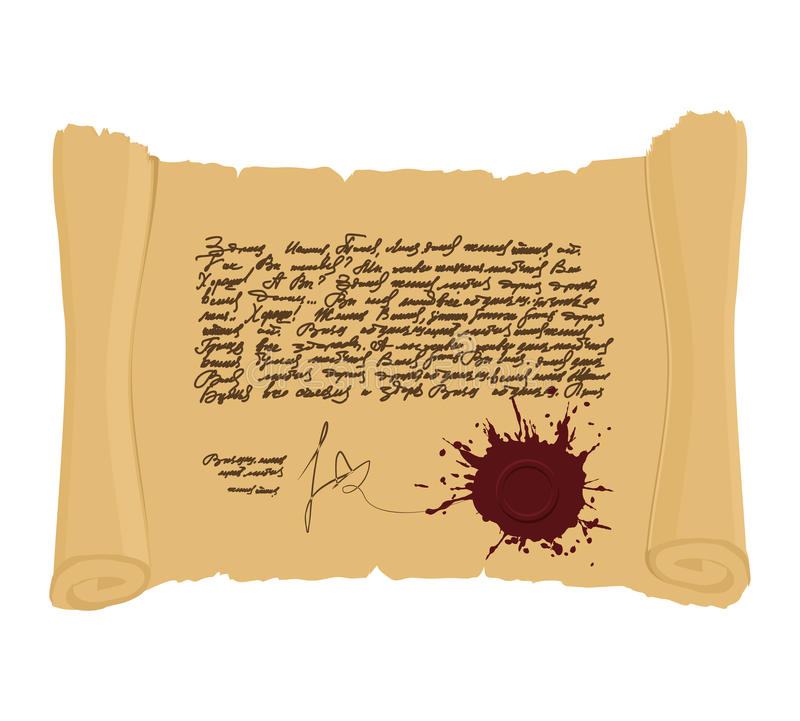 Antyczna ślimacznica z foką Nieokreślony abstrakcjonistyczny tekst w roczniku s royalty ilustracja