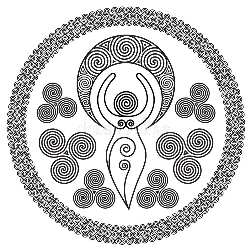 Antyczna Ślimakowata bogini: Ten delikatna bogini reprezentuje kreatywnie władzy Boski Kobiecy i nigdy kończy okrąg o, ilustracji