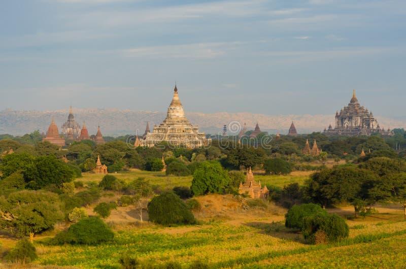 Antyczna świątynia w równinie Bagan (poganin) zdjęcie stock