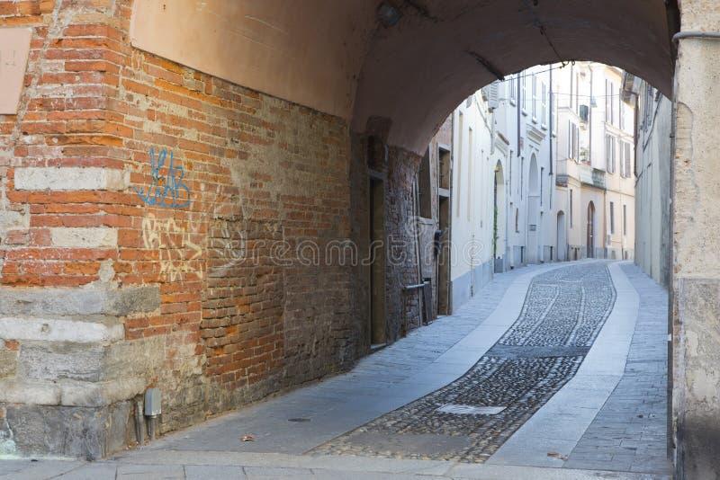 Antyczna aleja w Pavia Włochy obrazy stock