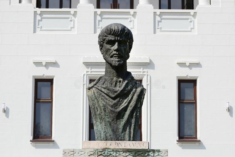 Antyczna architekt statua zdjęcia stock