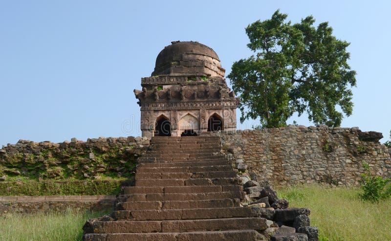 Antyczna architektura Mandav Jaali Mahal obrazy royalty free