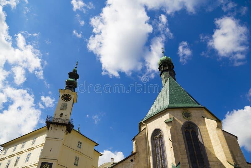 Antyczna architektura w mieście Banska Stiavnica, Sistani zdjęcia stock