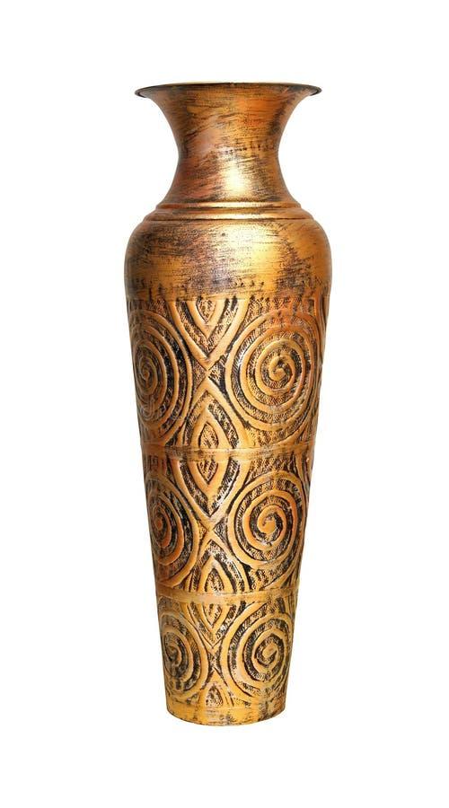 Antyczna brązowa waza zdjęcie royalty free
