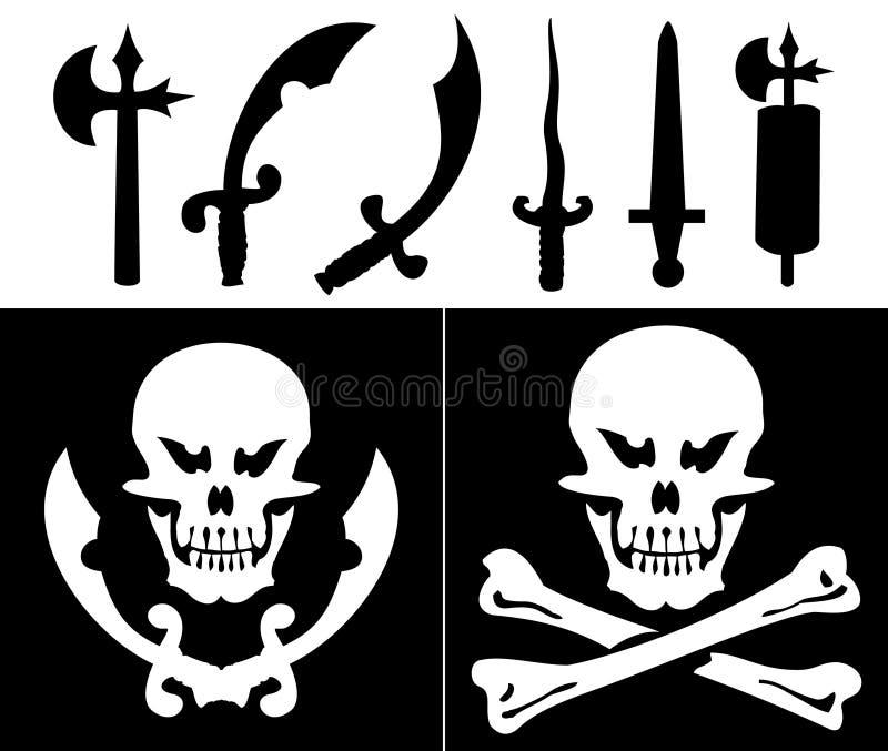 Download Antyczna broń ilustracja wektor. Obraz złożonej z kość - 15470777