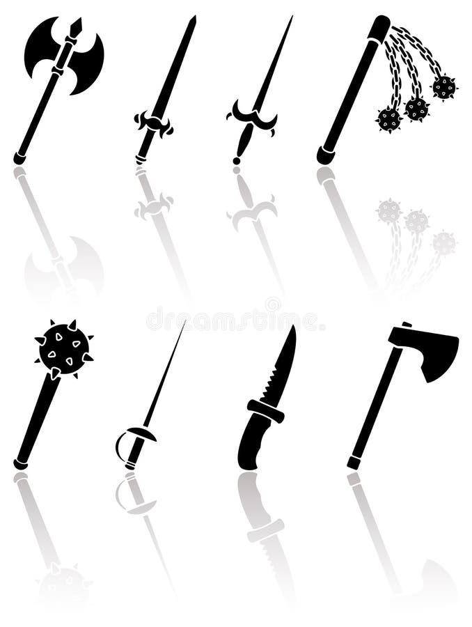 Download Antyczna broń ilustracja wektor. Obraz złożonej z szczupak - 25953234