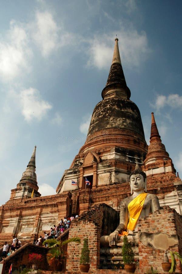 antyczna Buddha statuy świątynia fotografia stock