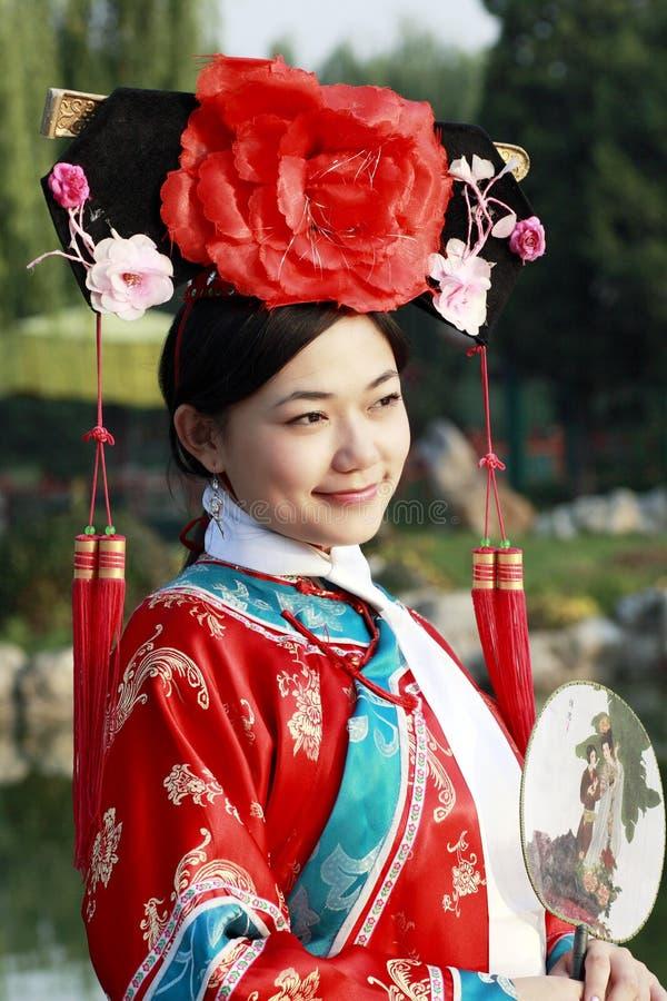 antyczna chińczyka sukni dziewczyna fotografia royalty free