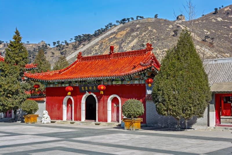 Antyczna Chińska architektura na wielkim murze Chiny zdjęcia stock