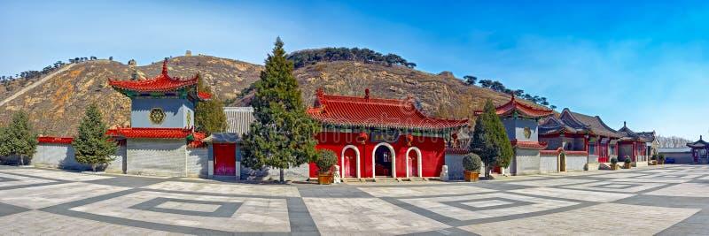 Antyczna Chińska architektura na wielkim murze Chiny fotografia stock