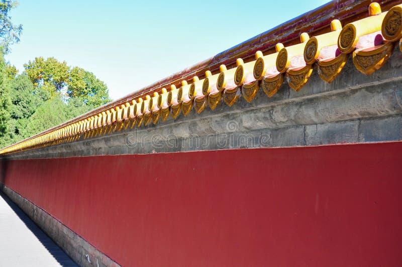 Antyczna Chińska architektura w ditan parku w Beijing obraz stock