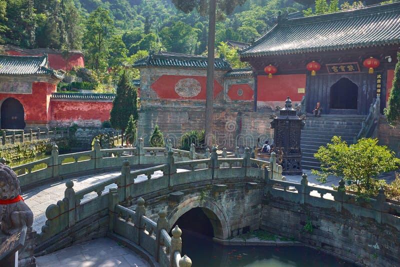 Antyczna Chińska kungfu świątynia w halnym Wudang obrazy stock